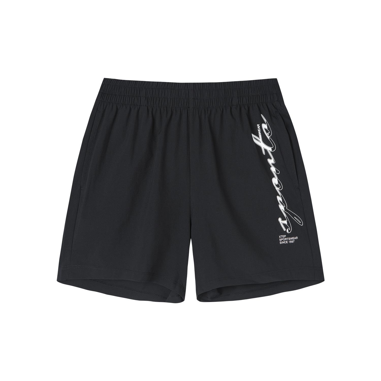 特步 专柜款 女子运动综训短裤 秋季新款舒适透气百搭梭织短裤981328240115