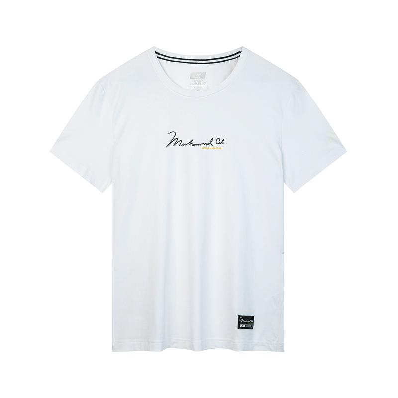 特步 专柜款 男子秋季综训短袖T恤 简约百搭运动透气短袖981329010101