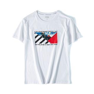 特步 专柜款 男子活力时尚百搭T恤 新款都市休闲短袖981329010112