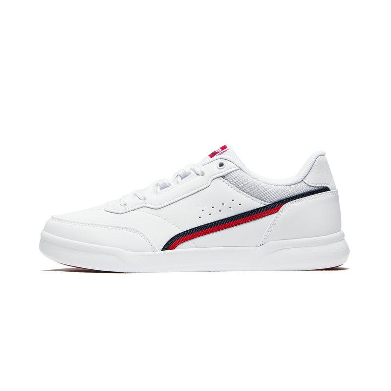 特步 专柜款 女子板鞋2019秋季新款低帮平底休闲鞋板鞋小白鞋981318316189