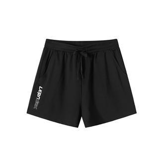 特步 专柜款 女子针织短裤 简约运动休闲短裤981228600116