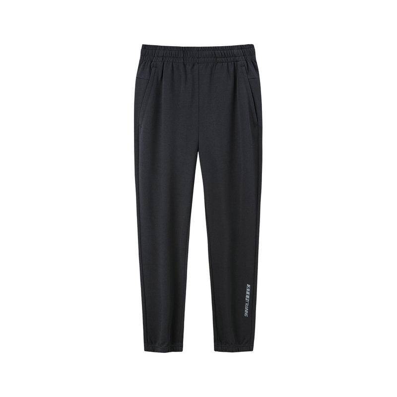 特步 男子秋季基础运动针织长裤舒适透气运动裤881329639241