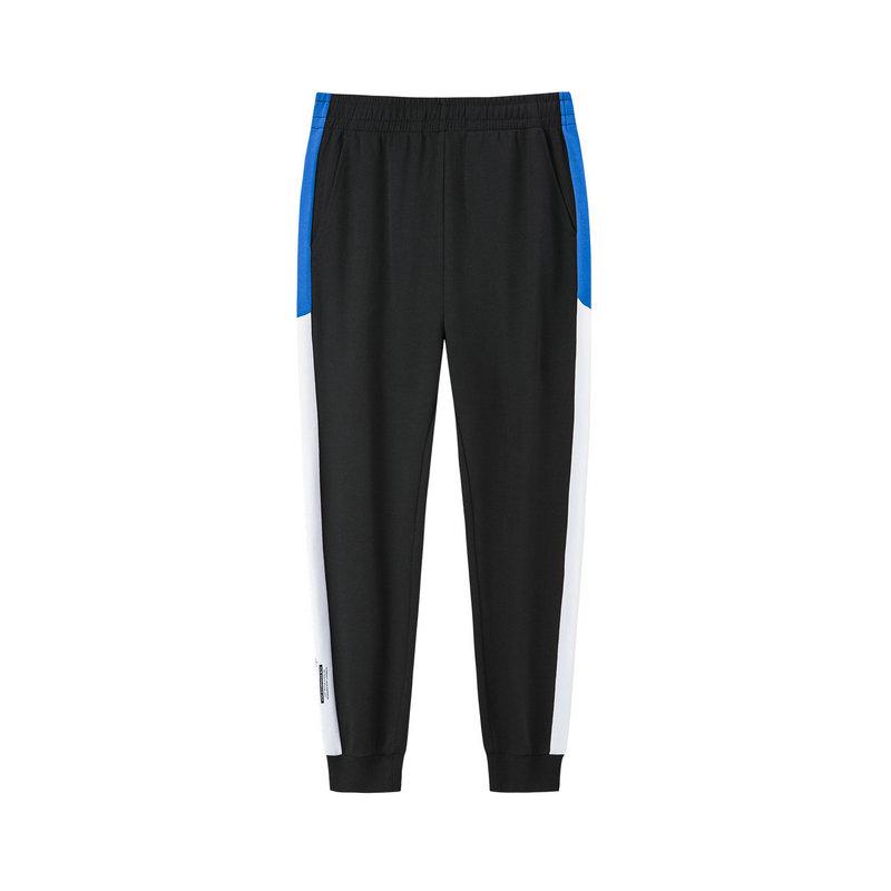 特步 男子秋季运动长裤 拼接撞色潮流时尚针织长裤881329639273