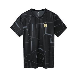 特步 专柜款 男子足球运动短袖 新款透气吸汗简约时尚短袖981329010266