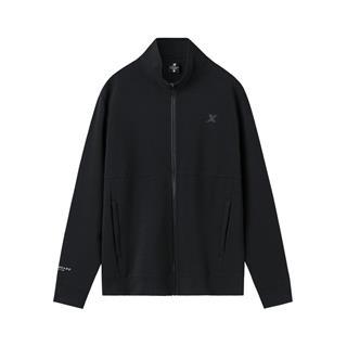 特步 专柜款 男子针织上衣 简约时尚长袖外套981329060395