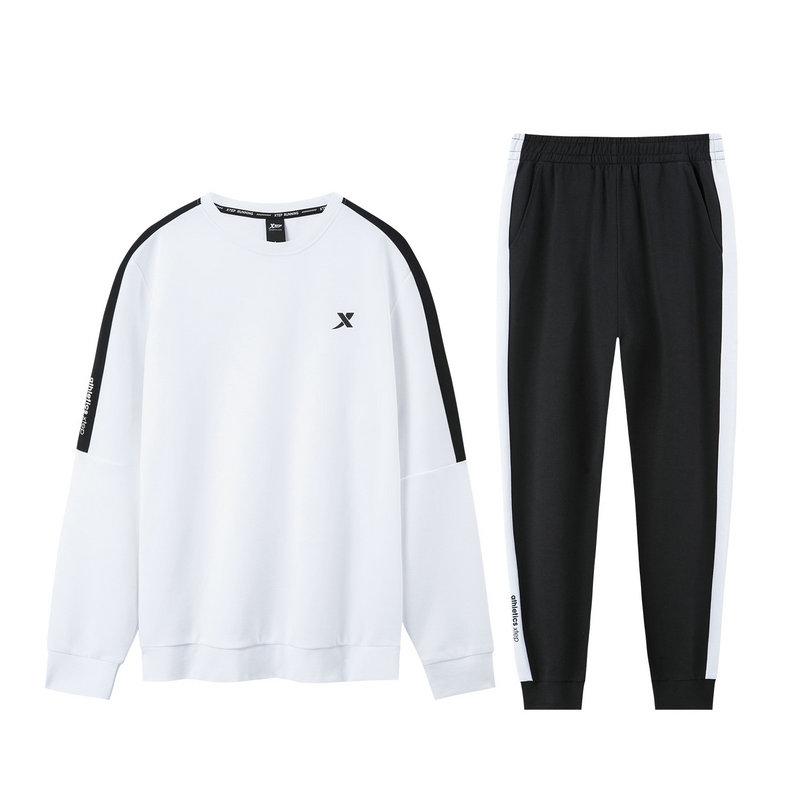 特步 男子针织套装 19新款时尚卫衣长裤运动两件套881329969076