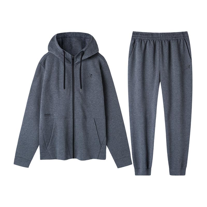 特步 男子针织套装 拉链外套长裤运动两件套881329969220