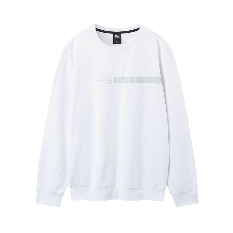 特步 男子针织卫衣 2019秋季新款时尚圆领长袖上衣881329059201