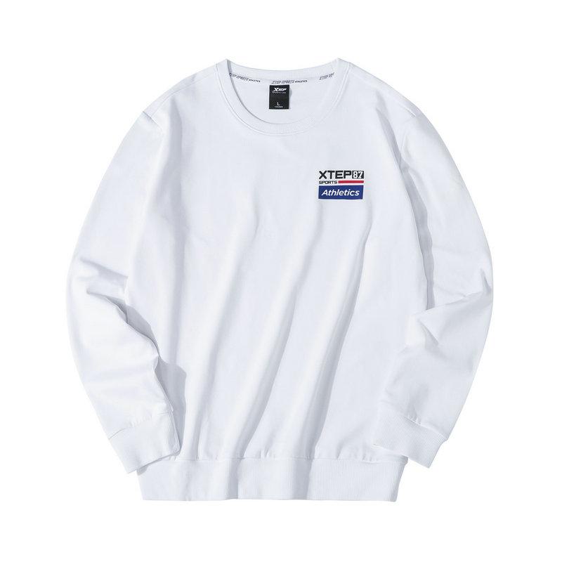 特步 男子卫衣 2019秋季新款时尚圆领长袖套头衫881329059202