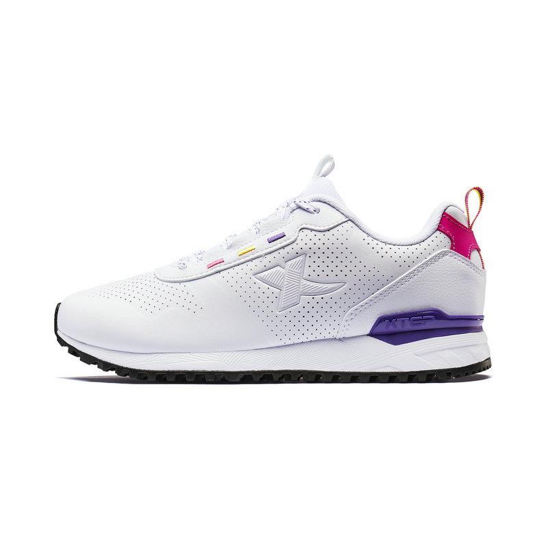 特步 专柜款 女子休闲鞋2019秋季新款学生跑步运动鞋透气板鞋981318326989