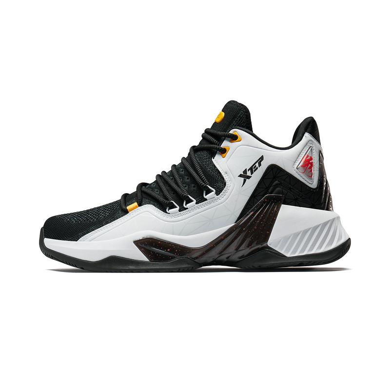 特步 专柜款 男子篮球鞋 2019年秋季新款高帮耐磨减震透气篮球鞋981319121218