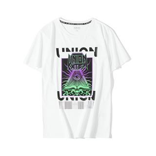 特步 专柜款 男子街头潮流T恤 秋季新款时尚百搭短袖针织衫981329010432