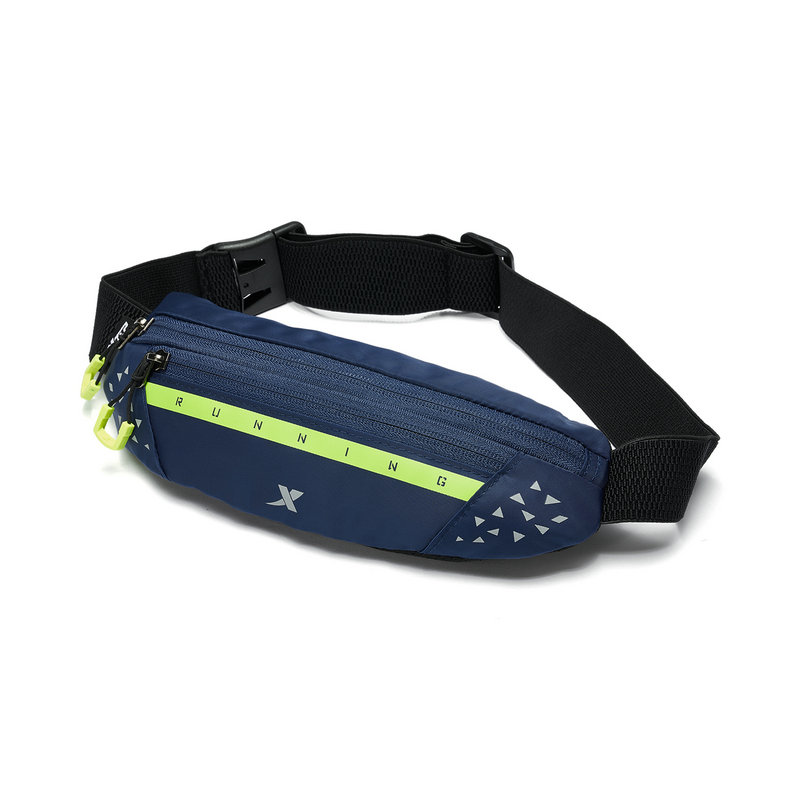 特步 男女通用运动腰包 新款百搭简约拉链跑步腰包881337149002