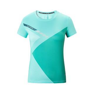 特步 专柜款 女子马拉松短袖针织衫 运动健身跑步T恤981328010183