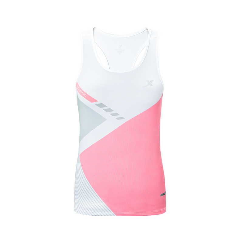 特步 专柜款 女子马拉松背心 2019秋季新款运动休闲跑步透气背心981328090185