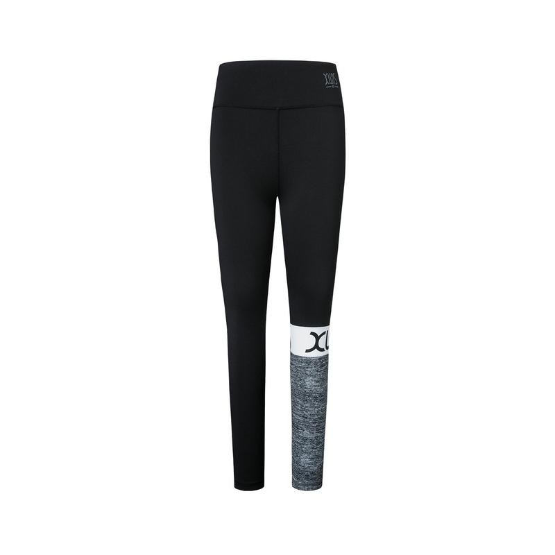 【景甜同款】特步 专柜款 女子紧身裤 2019夏新款弹力健身运动瑜伽裤981328580109