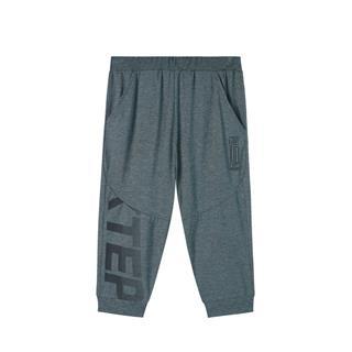特步 专柜款 男童运动针织七分裤 中大童舒适透气短裤681225624157