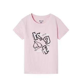 特步 专柜款 女童短袖针织衫 中大童舒适百搭透气短T681224014044