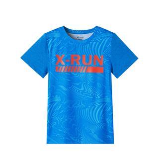 特步 专柜款 男童运动针织衫 中大童吸汗透气针织短袖681225014136