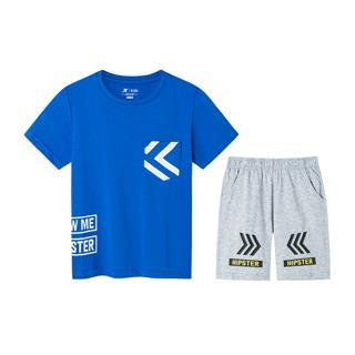 特步 专柜款 男童针织短袖套装 夏季舒适透气百搭小童短袖套装681225343056