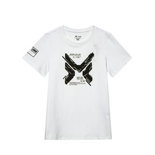 特步 专柜款 儿童男童中大童运动短袖针织衫纯棉T恤681225014003