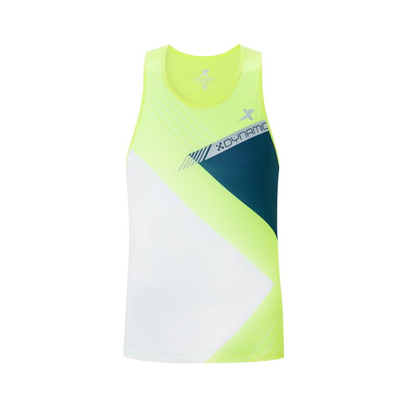 特步 专柜款 男子马拉松背心 2019秋季新款运动休闲跑步背心上衣981329090207