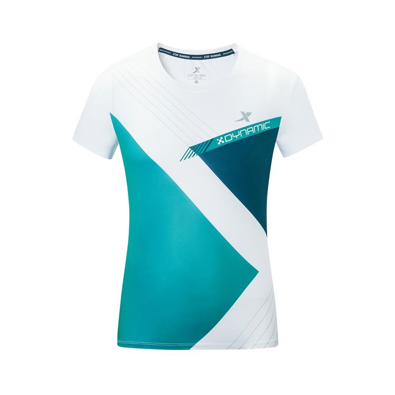 特步 专柜款 男子马拉松短袖针织衫 2019年秋季新款时尚运动休闲上衣981329010208