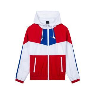 【明日之子同款】特步 专柜款 女子双层夹克 时尚连帽休闲运动风衣981328120005