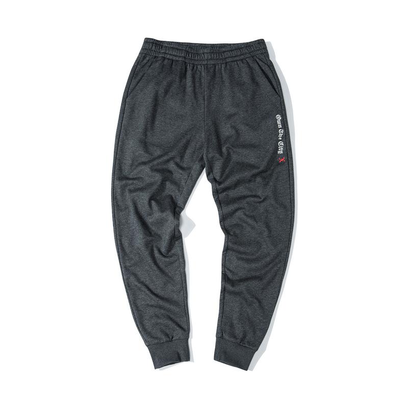 特步 男子街头针织长裤 冬季新款时尚潮流缩脚长裤881429639177