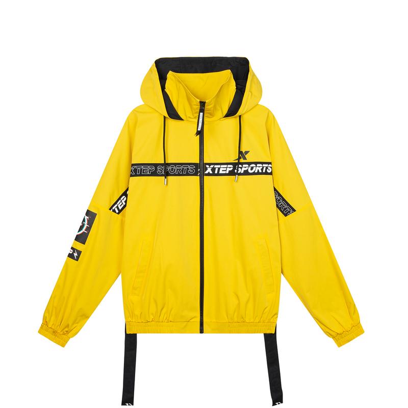 【这就是街舞】特步 专柜款 男子连帽外套黄色潮风衣战队服981229158817