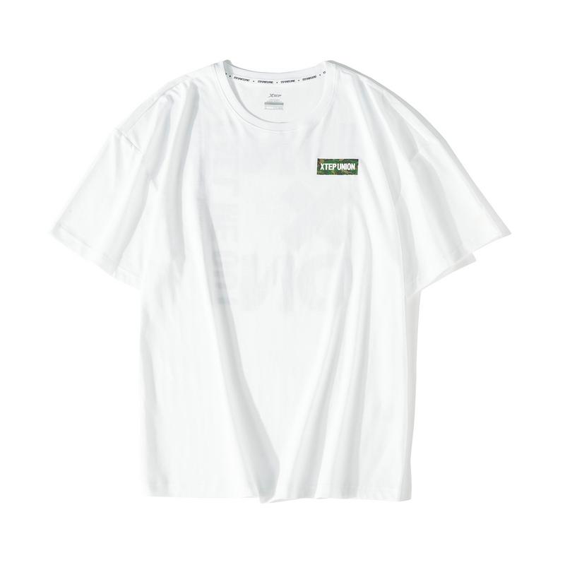 【这就是街舞】特步 短袖男装2019夏季新款T恤男士透气半袖上衣潮881229019319