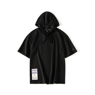 【这就是街舞】特步 男子短袖连帽舒适短袖街舞嘻哈潮881229019315