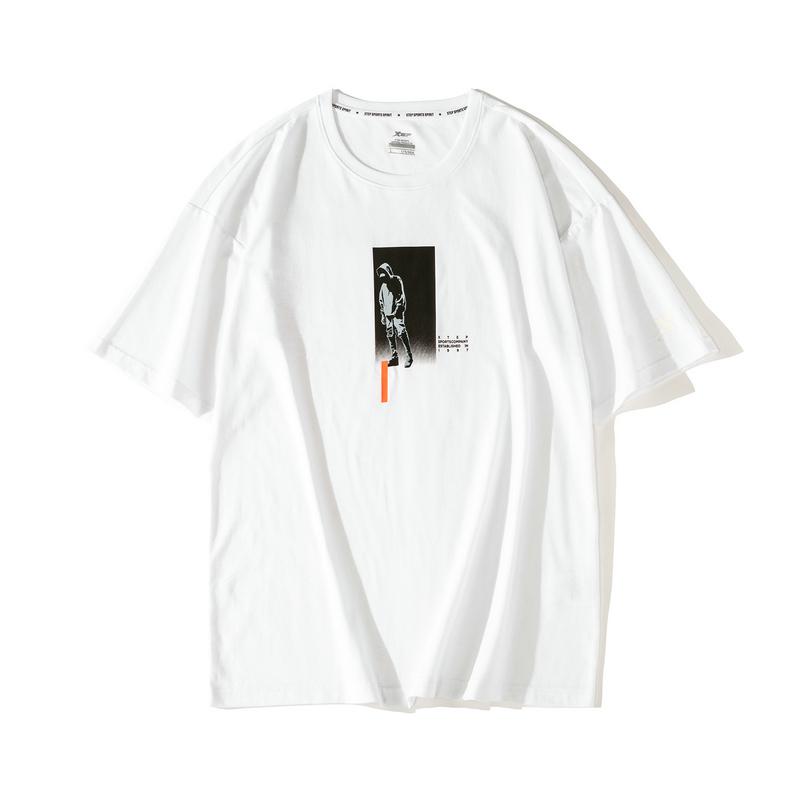 【这就是街舞】特步 短袖T恤男女同款2019夏季新品休闲情侣潮上衣881229019310