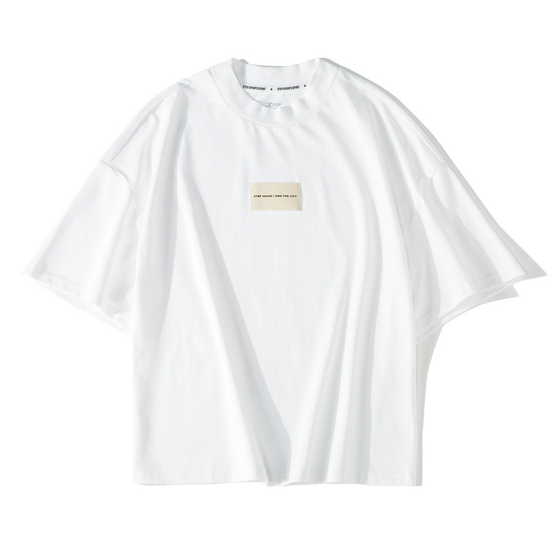 【这就是街舞】特步 女子短袖T恤 2019夏宽松上衣881228019313