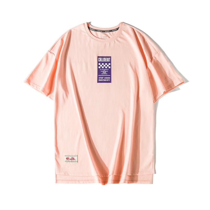 【这就是街舞】特步 短袖T恤女2019夏季新款宽松显瘦oversized上衣881228019316