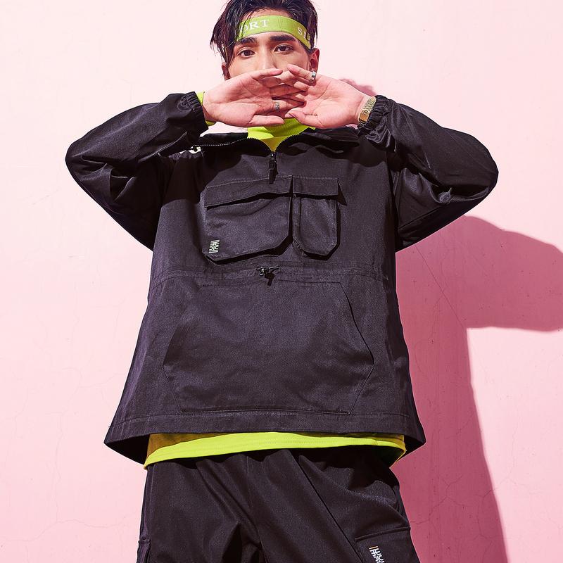 特步 【这就是街舞】男子同款潮流时尚工装风双层风衣881329159354