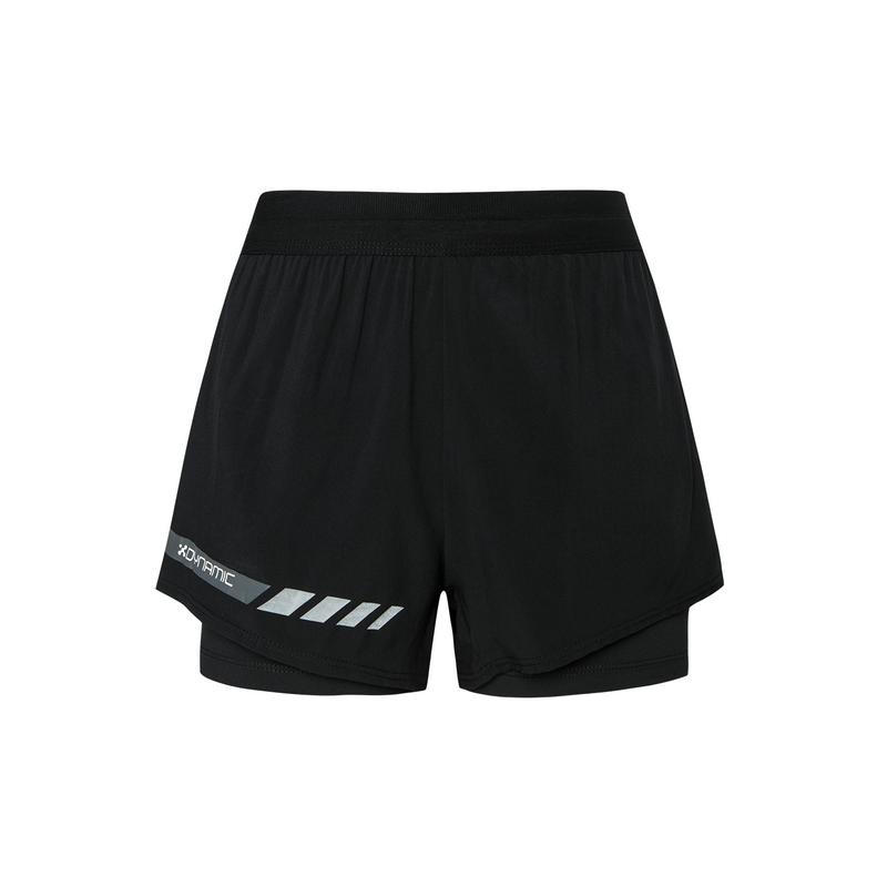 特步 专柜款 女子马拉松短裤 2019秋季休闲梭织运动跑步短裤981328240179