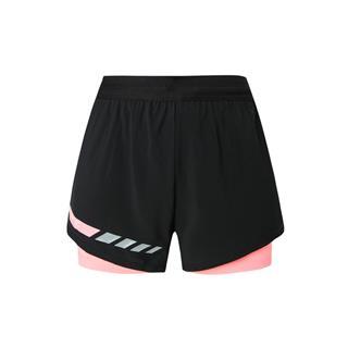 特步 专柜款 女子马拉松短裤 休闲梭织运动跑步短裤981328240179