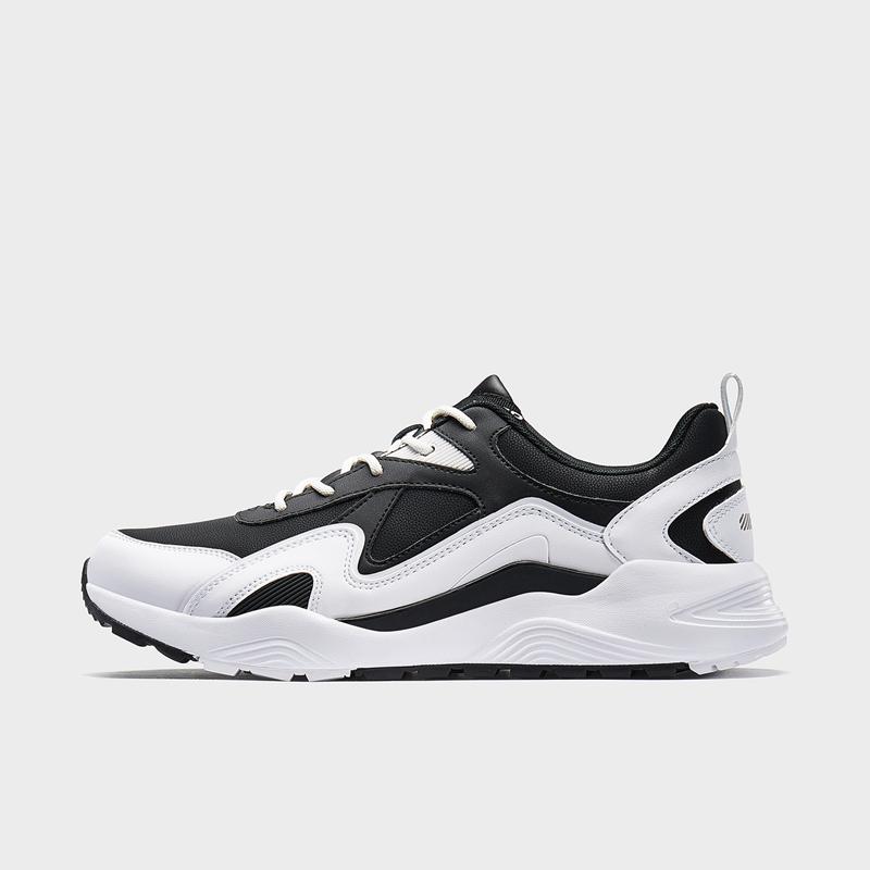 特步 男子休闲鞋 19新款简约都市运动老爹鞋881419329591