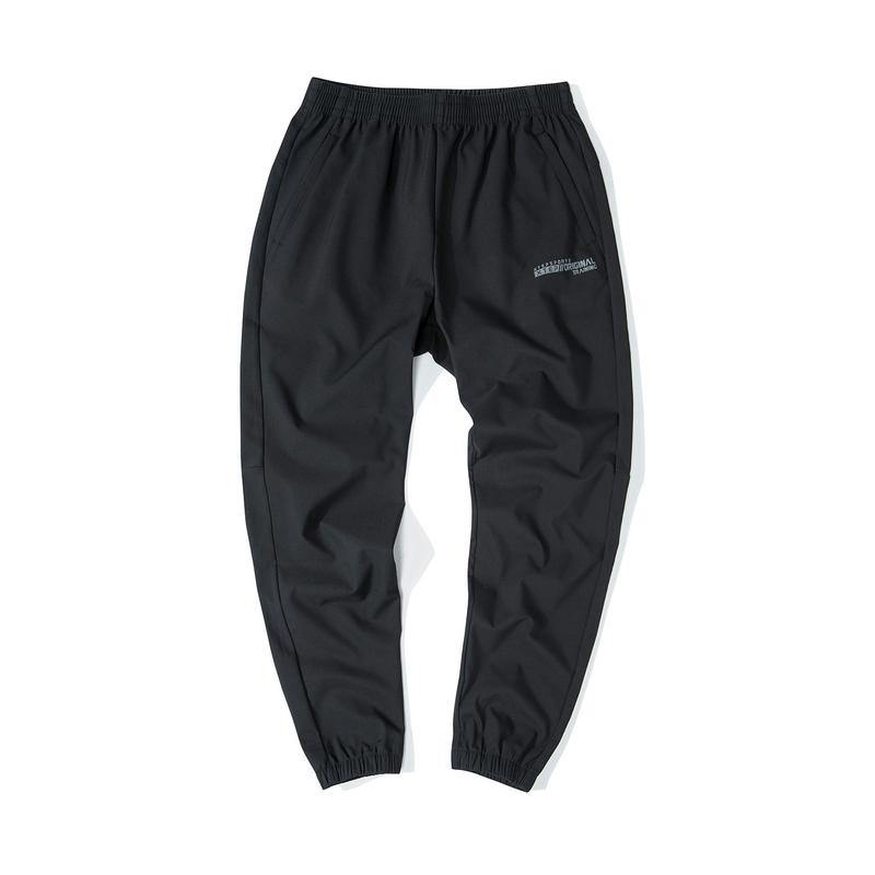 特步 男子梭织单裤 19新款简约运动收脚裤881429499147