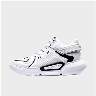 特步 男子篮球鞋 潮流革面轻便中帮球鞋881419129622