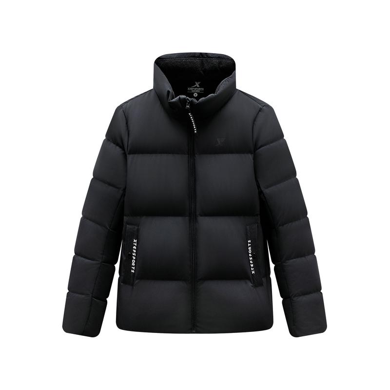 特步 女子羽绒服 19冬季新款立领短款保暖外套881428199232