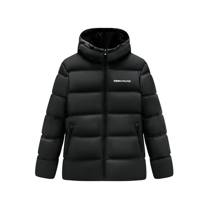 特步 男子羽绒服 19冬季新款连帽防风保暖短款外套881429199126