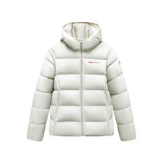 特步 女子羽绒服 19冬季新款连帽保暖时尚加厚短款外套881428199198