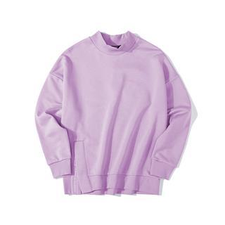 特步 女子卫衣 19新款时尚小高领纯色保暖套头衫881428059075