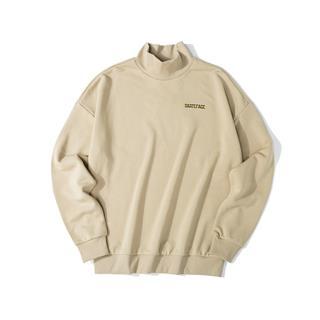 特步 男子卫衣 19冬季新款半高领休闲简约套头衫881429059071