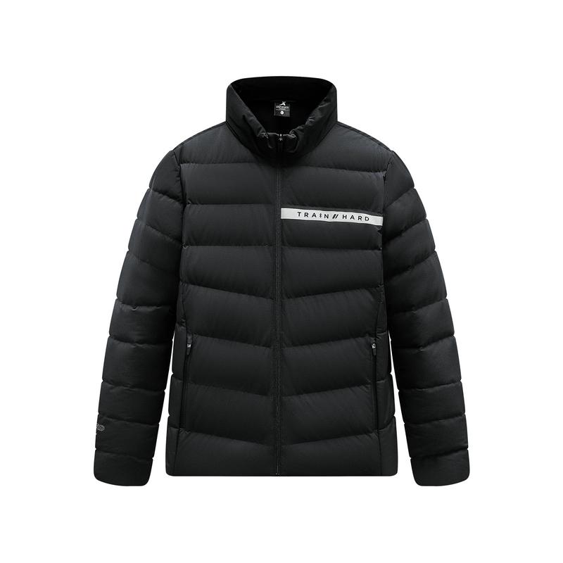 特步 男子羽绒服 2019冬新款立领保暖运动休闲羽绒外套881429199230