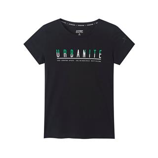特步 专柜款 女子袖针织衫 透气圆领T恤运动981328010403