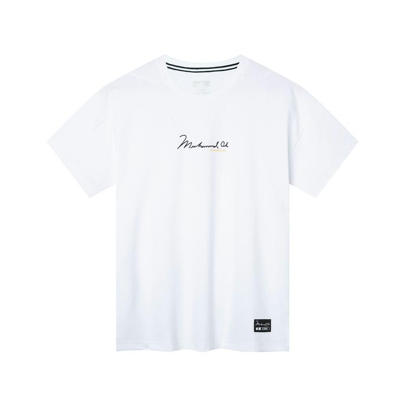 【阿里系列】特步 专柜款 男子短袖 2019秋新款阿里系列圆领综训休闲T恤981329010102