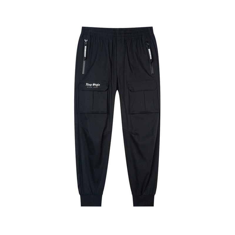 特步 专柜款 男子休闲长裤 口袋拉链工装裤981329560438